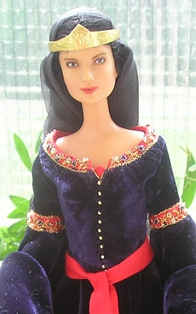 Arwen's mourning gown - ooak Barbie doll dress