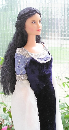 ARWEN - Requiem outfit OOAK dress for Barbie doll
