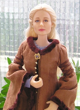 eowyn ooak doll brown coat