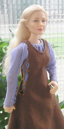 eowyn ooak refugee outfit for doll