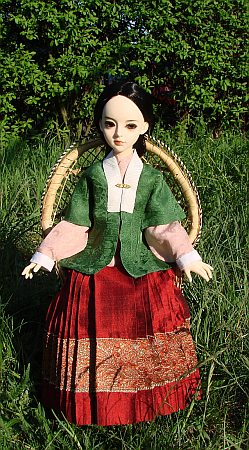 Hanfu - chinese traditional outfit from Ming dynasty for BJD doll MSD size