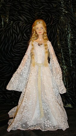 galadriel ooak doll mirror dress
