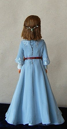 Lucy Pevensie in blue Narnian dress- Chronicles of  Narnia OOAK doll