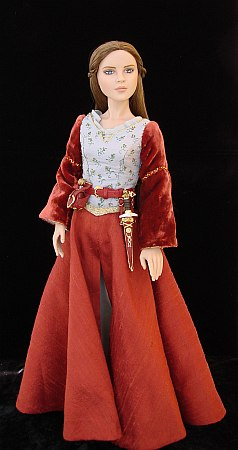 Lucy Pevensie, OOAK costume for a doll from Chronicles of Narnia - Prince Caspian
