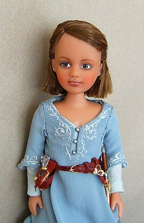 Lucy Pevensie in blue Narnian dress - Chronicles of  Narnia OOAK doll