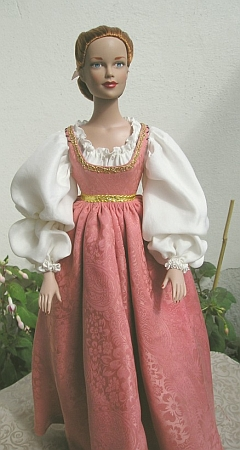 MARGUERITE DE GHENT - OOAK day dress for doll  from Ever After movie