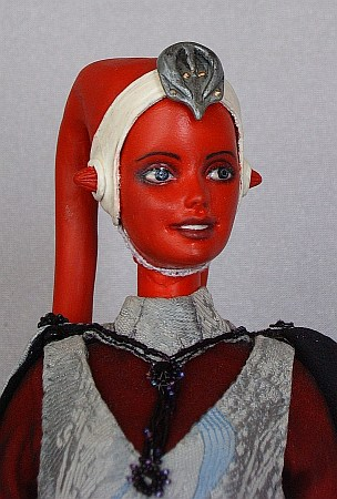 Miela, twi'lek diplomat, Star Wars OOAK Barbie doll