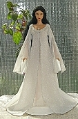 Arwen angel dress ooak for Barbie doll