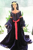 Arwen mourning gown ooak for Barbie doll