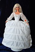 "Spanish baroque dress for 12"" Barbie doll"